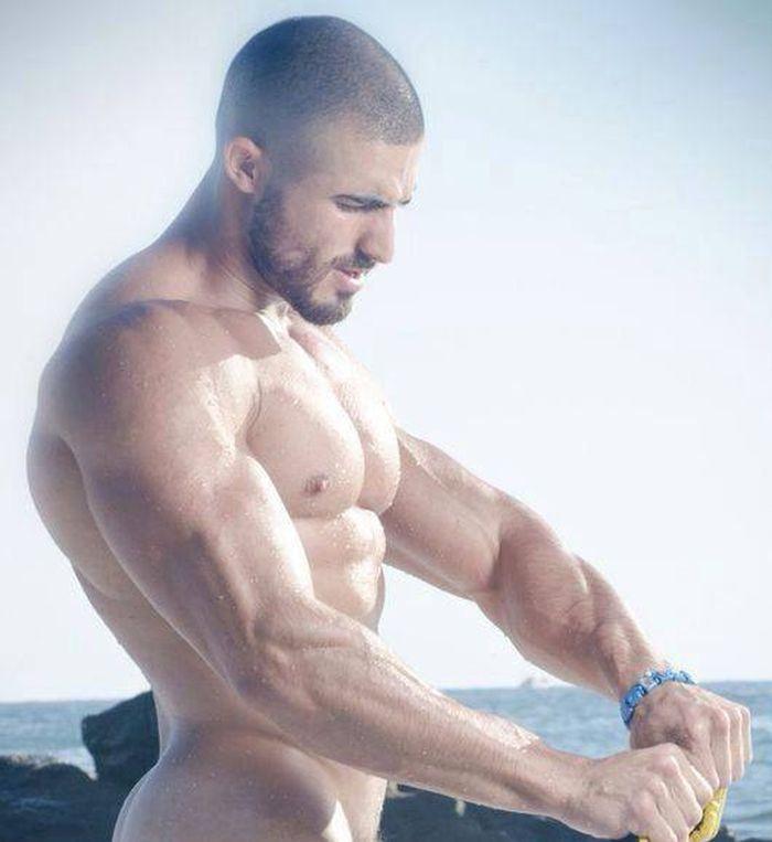 Muscle men back