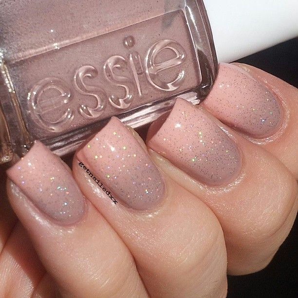 Glitter nude nails!