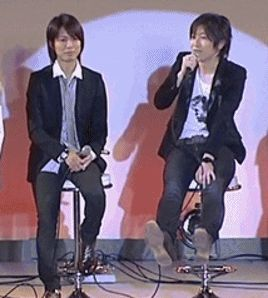 "Tokyo anime fair 2008 event Love the way Kamiya kicks Ono "" Gif made by me """