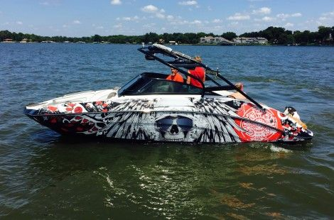 Boat Wraps Portfolio, Vinyl Boat Graphics, Boat Wraps | Wake Graphics