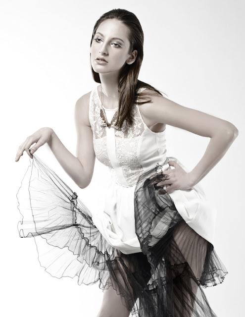 Black and White Photographer: Kaity Body Stylist: Carmen Tsang Model: Jenna M   lace, tulle, editorial, photo shoot