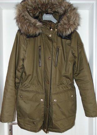 Kup mój przedmiot na #vintedpl http://www.vinted.pl/damska-odziez/kurtki/12057931-parka-esprit-zara-kaptur-zimowa-skora-futerko-s-36-khaki