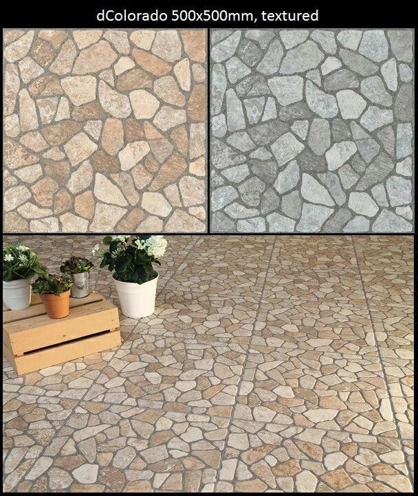 Pebble looking tiles.