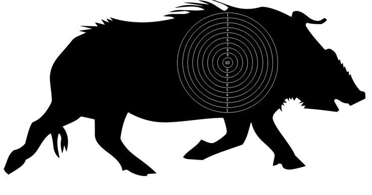 Распечатай и Стреляй!: Набор мишеней с изображением кабана. Pack of wild boar…
