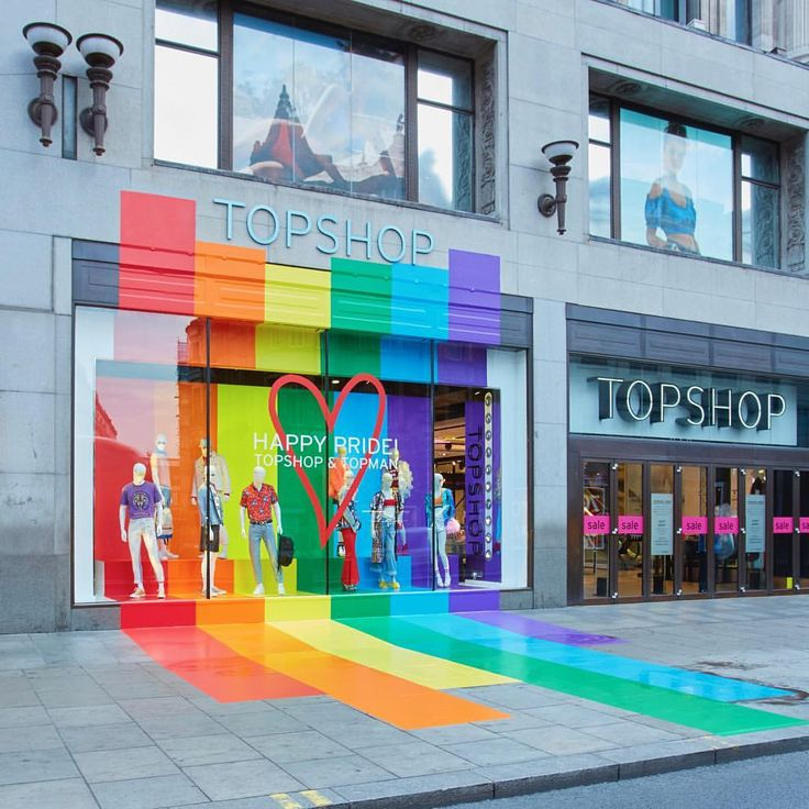 "TOPSHOP, Oxford Street, London, UK, ""There is a rainbow of hope at the end of every storm"", creative by Blacks Visual, pinned by Ton van der Veer"