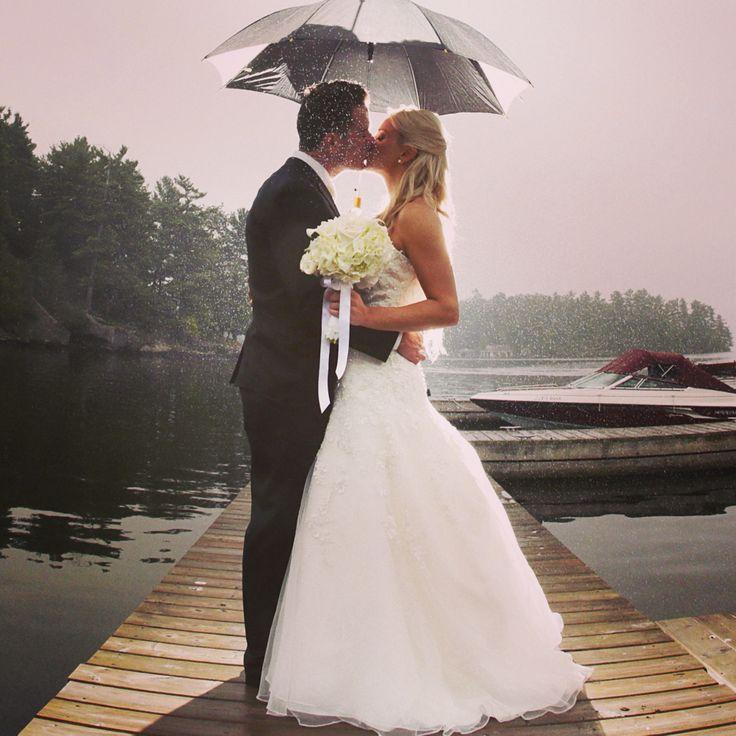 Rainy wedding at Windermere, Muskoka