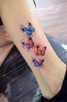 Lindo Mariposas estilo Acuarelas por Javi Wolf                                                                                                                                                                                 Más