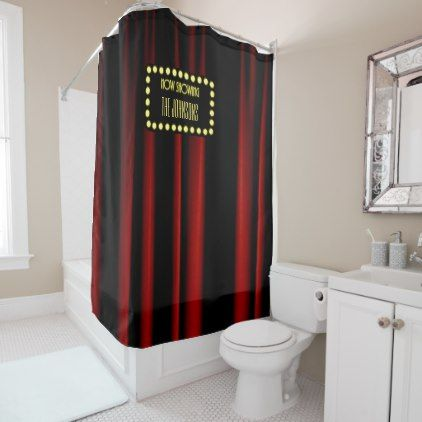#Hollywood Movie Theater Shower Curtain - #Bathroom #Accessories #home #living