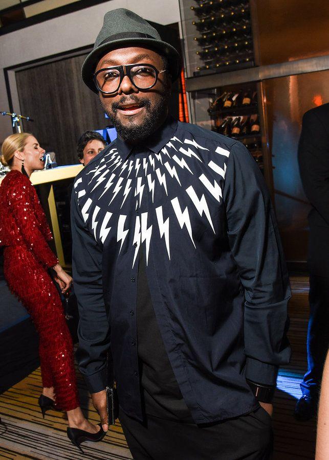will.i.am in Neil Barrett Spring Summer 2015 Menswear Collection Thunderbolt Shirt