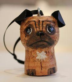 wine cork pug  Beso de Vino