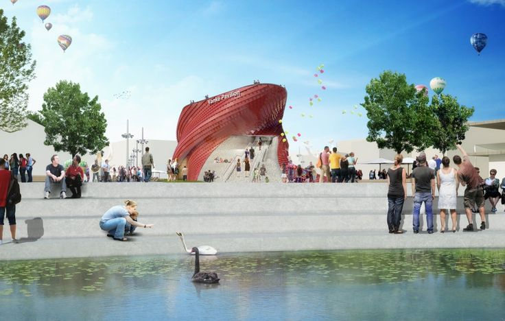 "Milan Expo 2015: Libeskind Reimagines the Chinese ""Shitang"" for Vanke"