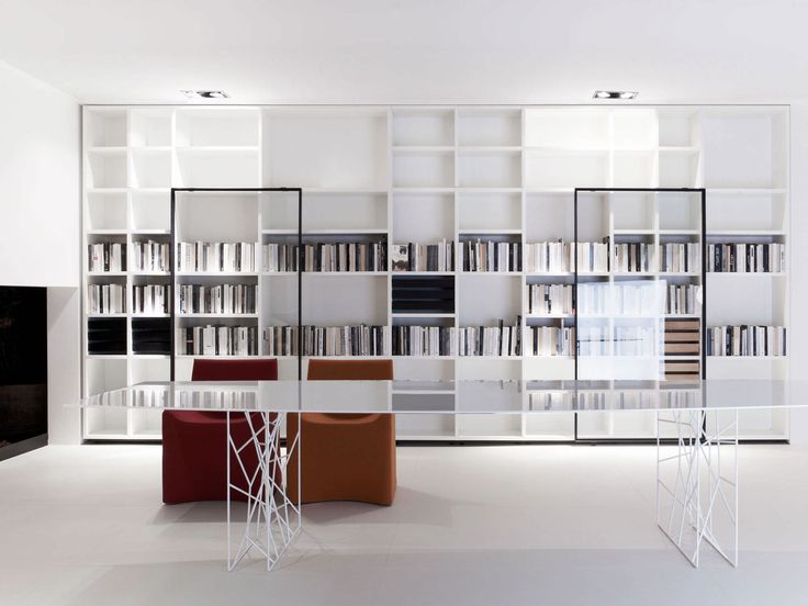 Home library design with modern interior decoration for those of you who love books get a - Minimalist images of bookshelves with ladder for home interior decoration ...