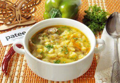 Немецкий суп с куриными потрошками и клецками - рецепт с фотографиями