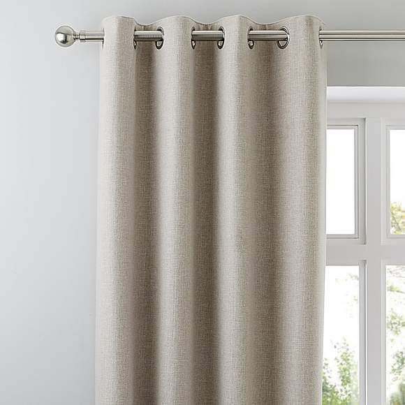 Jennings Natural Thermal Eyelet Curtains In 2020 Grey Eyelet Curtains Cream Eyelet Curtains Pink Eyelet Curtains