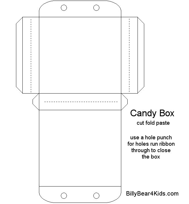 Candy Box Templates Template Cookie Paper Gift
