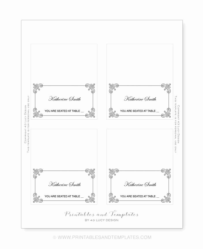 Place Card Template 6 Per Sheet Awesome Place Card Template 6 Per Sheet Icebergcoworking Place Card Template Word Free Place Card Template Place Card Template
