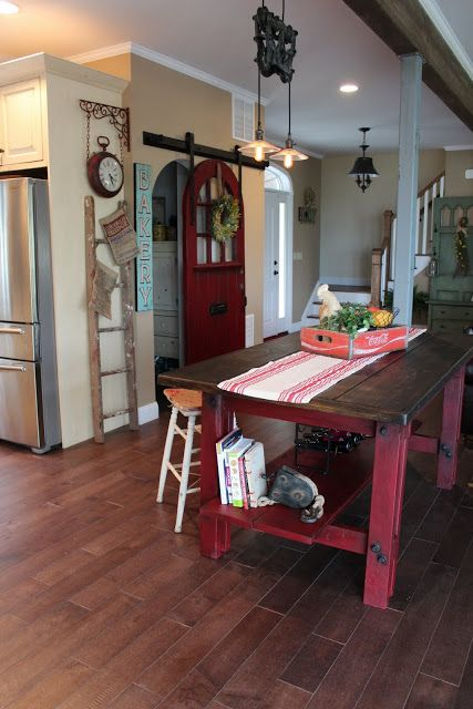 Fern Avenue: round top barn door... love the sliding pantry door!!!
