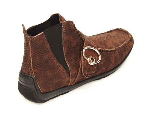 2713 #Dibrera - Soft #Piton #Leather animal print, #Fur lining, ankle #Shoe. $350 on sale now! http://www.rinastore.com/2713-dibrera-shoes-brown/dp/5278 Made in #Italy. Available at Rina's Boutique.