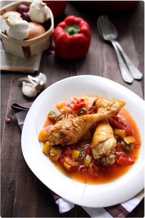 Poulet basquaise - Chef Nini
