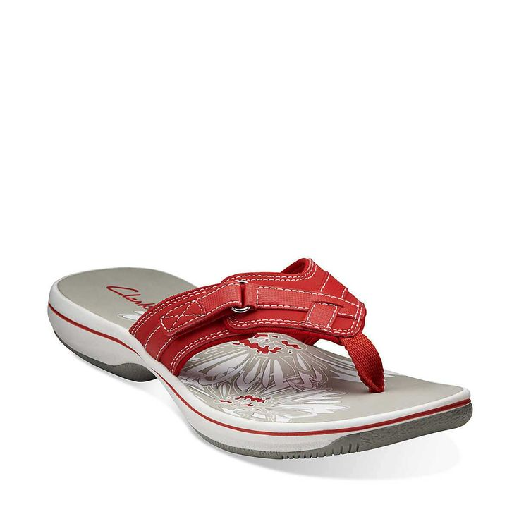 Breeze Sea in Coral Synthetic - Womens Sandals from Clarks SIZE 10  coral, black, navy,  or pewter