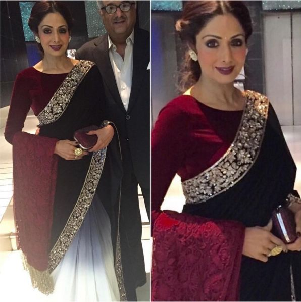 Perfect Winter Wedding look to take inspiration from! Beautiful Sri Devi <3