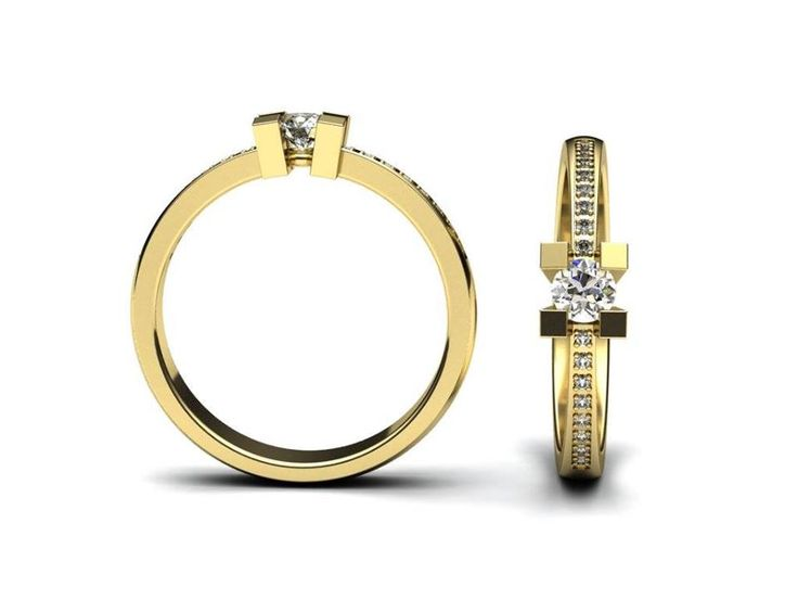 Jeden z posledních modelů zásnubního prstenu ve žlutém zlatě.