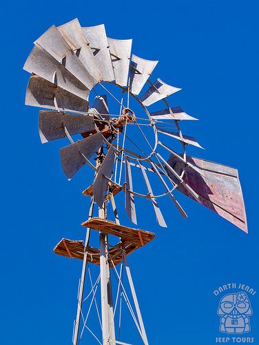 Goffs School House, Aermotor Windmill