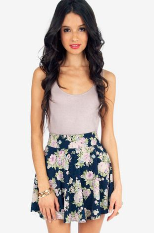 Flowering Fiona Skater Skirt $26 at www.tobi.com Love this for spring office wear with a grey blazer,