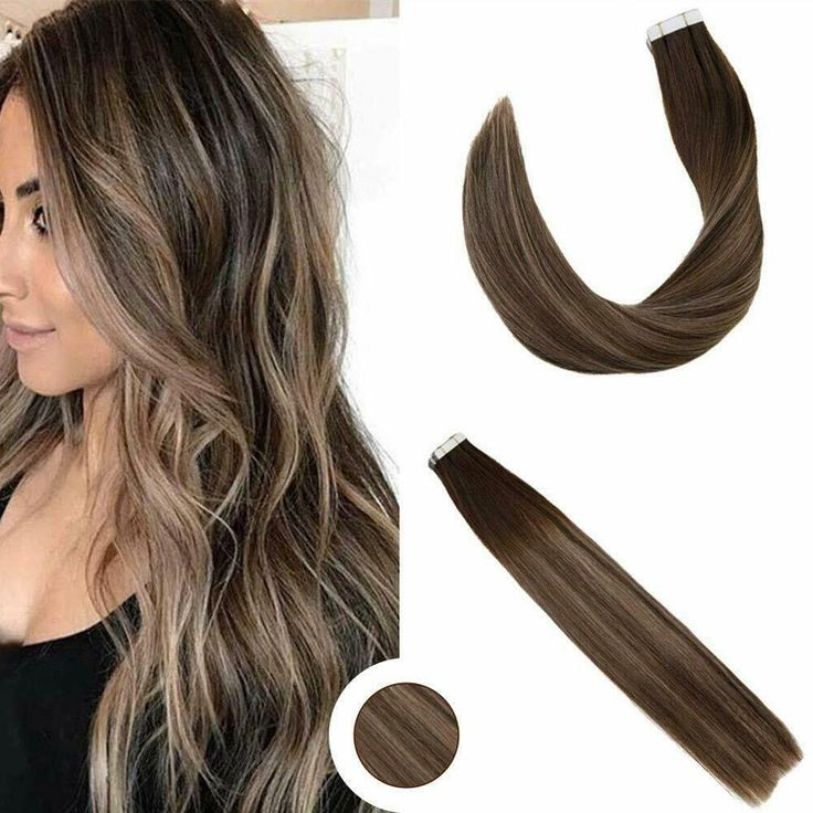Ugeat 24inch 20Pcs Ombre Tape in Remy Hair Extensions Double Weft Caramel 2/27/2 #Ugeat #Straight #Wedding #ombrehairstraight