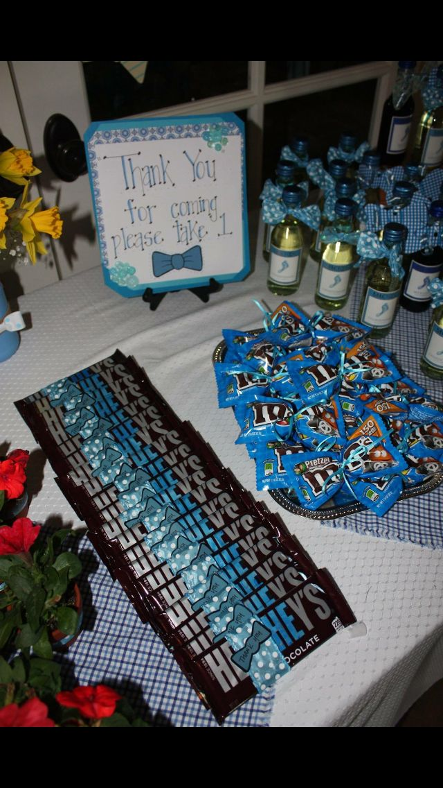 Bow tie themed favors                                                                                                                                                      More