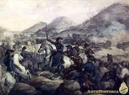 1817 - Batalla de Chacabuco -Guerra independencia Hispanoamerica El general San Martín - decisiva contienda de la Independencia de Chile
