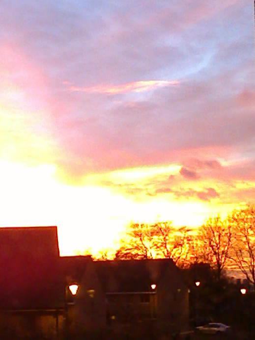 Sunset over leytonstone dec.2013