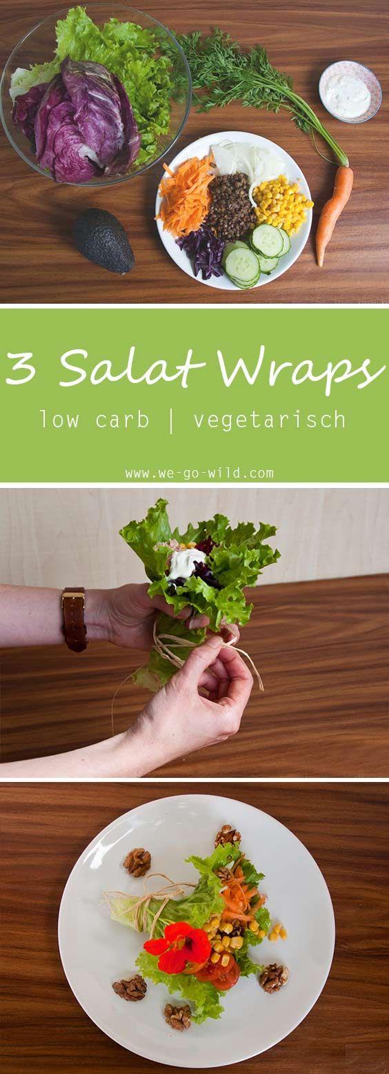 Salat Wraps schauen toll aus und schmecken lecker. Wir haben Salat Wraps mit Hummus gemacht und welche mit  Avocado Aufstrich. Die 3 Low Carb Rezepte wird sicher jedem schmecken. #lowcarb #mittagessen
