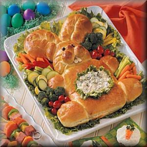 Should I make Challah in teh shape of a bunny? I feel like our meal might turn out tacky... but Imma keep posting ridiculous(ly cute) ideas for Easter brunch