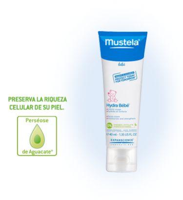 #Mustela hydra #bebe crema para el cuidado diario de la carita del bebe. Deja la piel flexible, sedosa, y extremadamente suave.