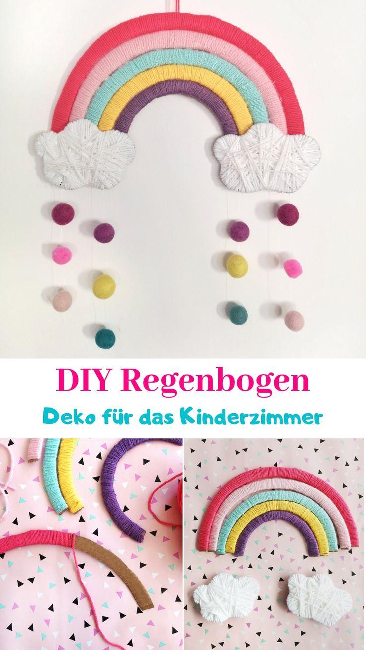 DIY Regenbogen aus Pappe – Kinderzimmer Deko einfach selber machen