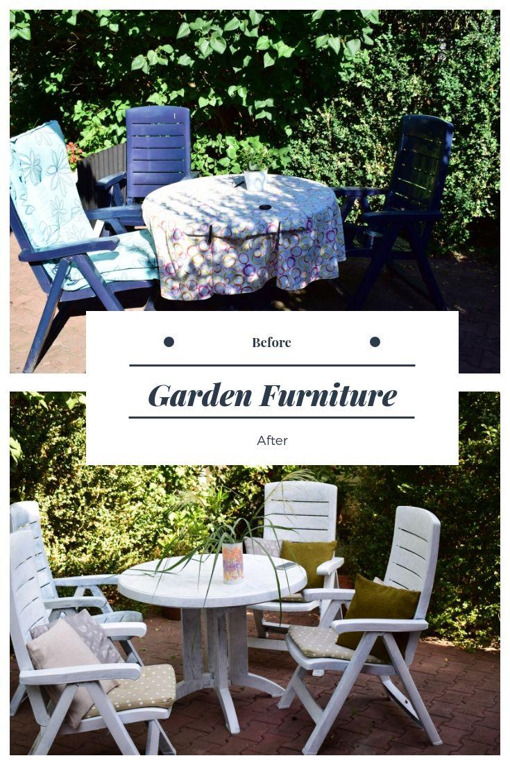 gartenmöbel aus kunststoff neu streichen. repaint plastic garden