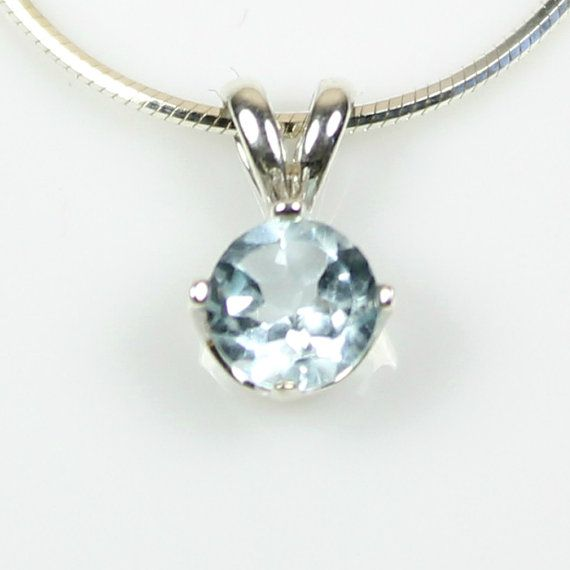 116 best pendant necklaces 925 sterling silver gemstone images on blue topaz pendant necklace sterling silver march birthstone round blue topaz necklace blue gemstone blue topaz jewelry 18 20 24 chain aloadofball Image collections