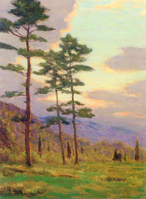 Солнечный свет через деревья.Charles Warren Eaton