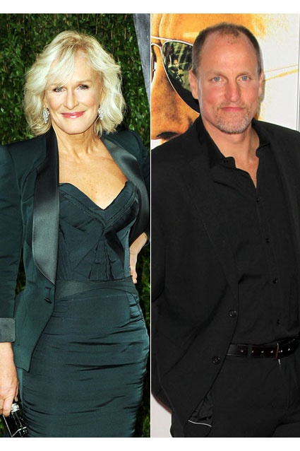 Glenn Close dated Woody Harrelson (15 years her junior) in 1991, but the May-December romance didn't last long. The quirky couple called it quits the same year.