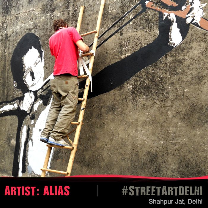 #alias #streetart #delhi #street #art #wall #wallart #graffiti #artist