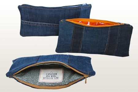 Pencil case, Recycled item - Von Hertzen Brothers. Designed and made by Jaana Bragge. Photo: Toni Ahonen.