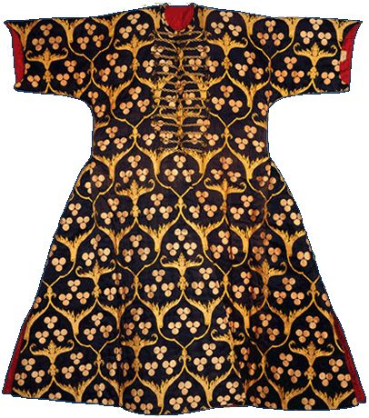 Kaftan of Sultan Selim I (r. 1515-1520), ca.1515 Black kemkha - silk brocade; lined in red silk
