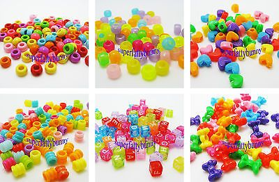 100pcs Alphabet Letter Charms Beads For Rainbow Loom Rubber Bands Bracelet Craft