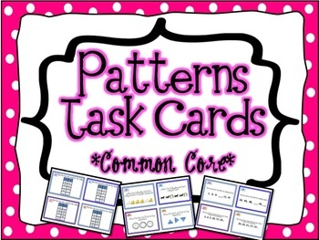 44 Pattern Task Cards aligned to Common Core Standards for 4th and 5th grade! Patterns can be practiced and mastered with these cards!    Includes:    Function Tables  Input/Output Tables  Geometric Growth Patterns  Increasing Growth Patterns  Word Problems with Numeric Patterns  Picture Patterns    4.OA.5, 5.OA.3