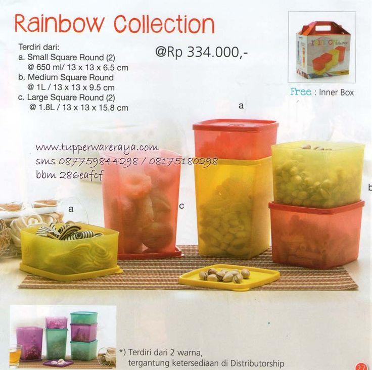 Katalog Tupperware Promo Agustus 2014 - Rainbow Collection