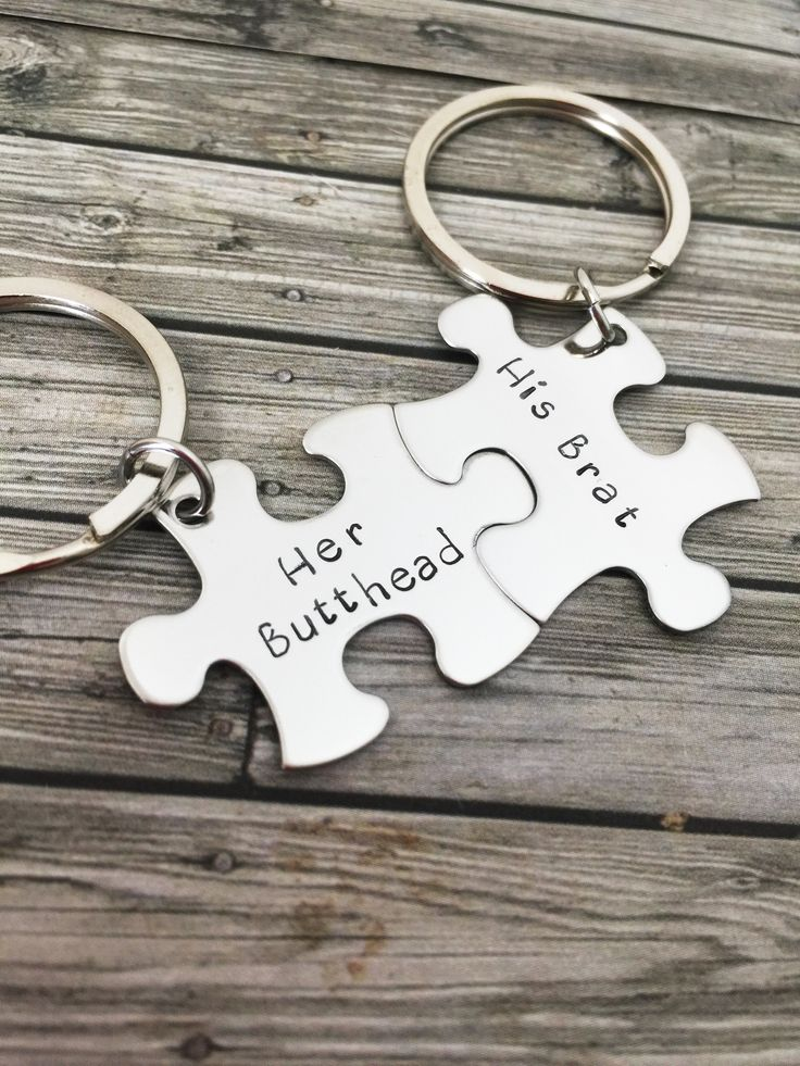 Cute Ideas For Your Boyfriend See More Her Butthead His Brat Couples Keychains Gift Funny Christmas