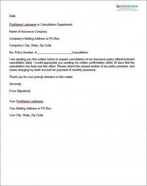 Allstate Customer Care >> Sample Insurance Cancellation Letter | Letter sample ...