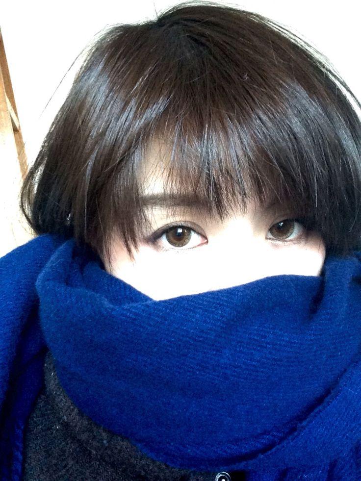 髪の毛を黒に染めた( ̄▽ ̄)