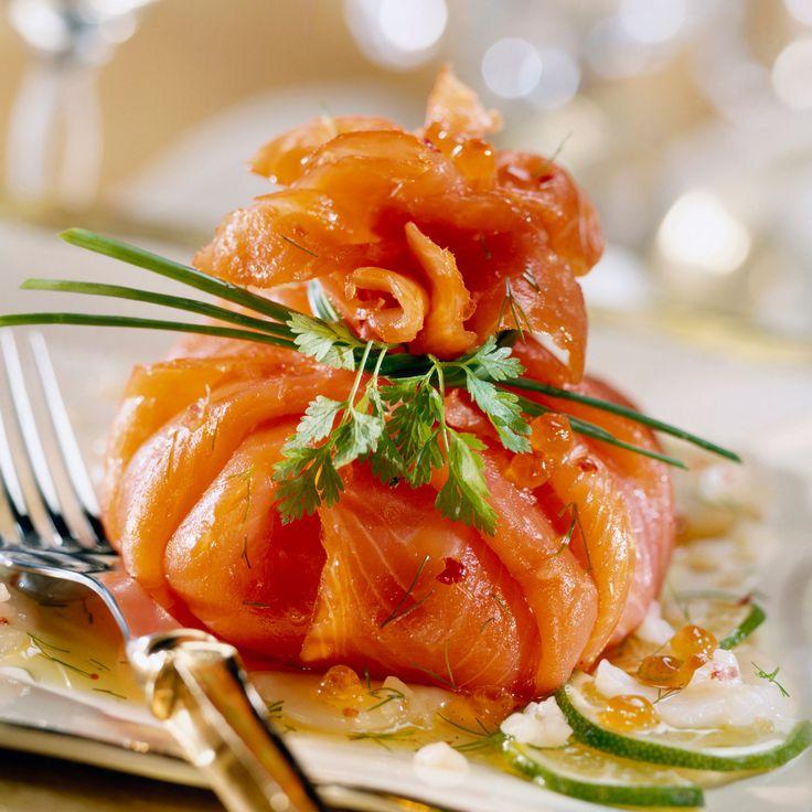 Découvrez la recette Ballotin de saumon fumé à l'avocat et aux herbes sur cuisineactuelle.fr.